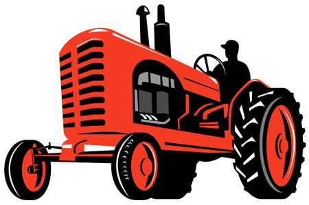 farming industry: Tractor Illustration