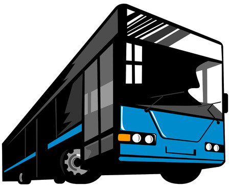 windshield: Coach bus Illustration