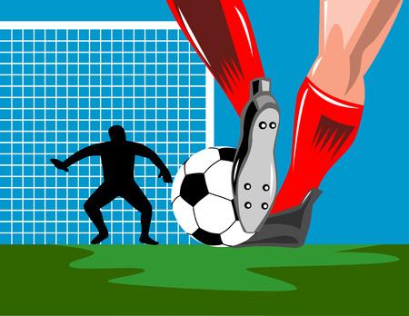 Soccer Goalie defending