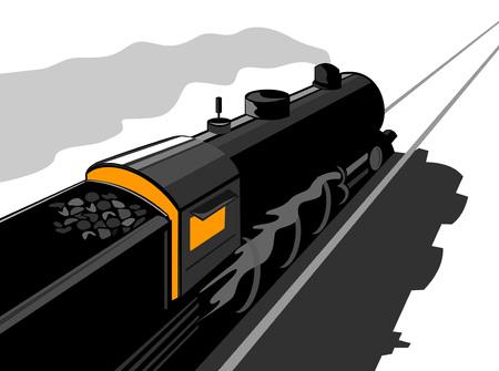 railway track: Stoomtrein