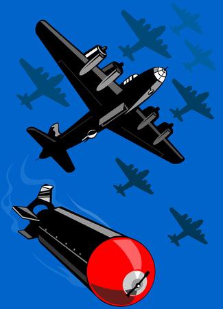 dropped: Bombardero lanzando bombas