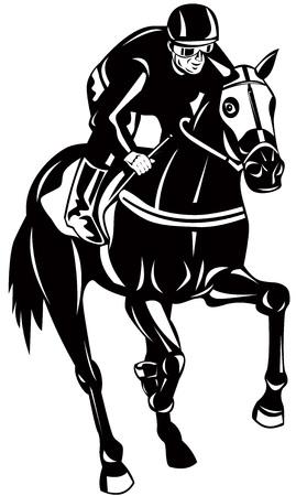 thoroughbred horse: Carreras de caballos Vectores