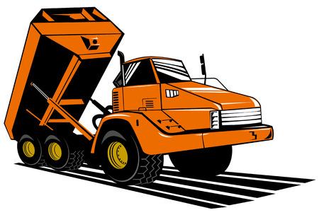 Dump truck Stock Vector - 3460408