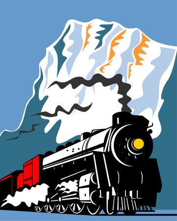 Steam train Stock Vector - 3492776