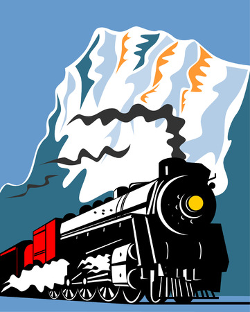 steam locomotives: Steam train Illustration