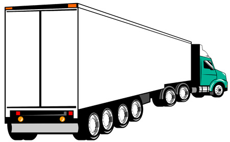 Articulated truck Stock Vector - 3492714