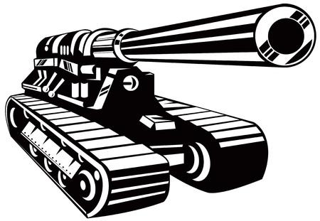 Batalla de tanques Ilustración de vector
