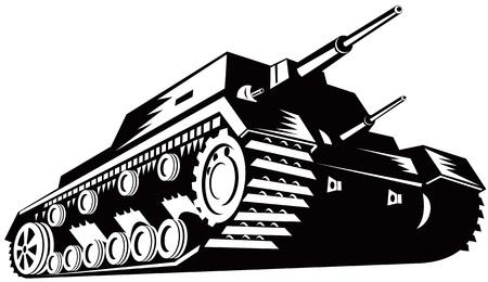 Battle tank Vector