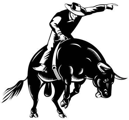 Bull riding Stock Vector - 3492719