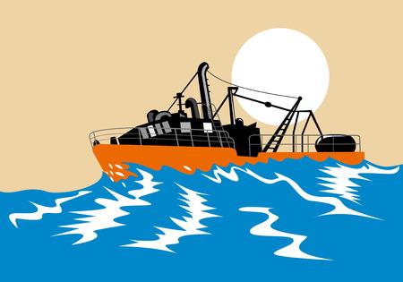 the seas: Fishing boat on stormy seas