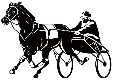 horse harness: Harness racing Illustration