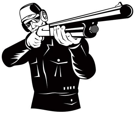 fusil de chasse: Hunter visant  Illustration