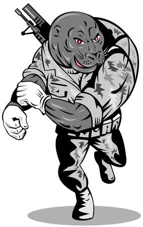 human mascot: Navy seal