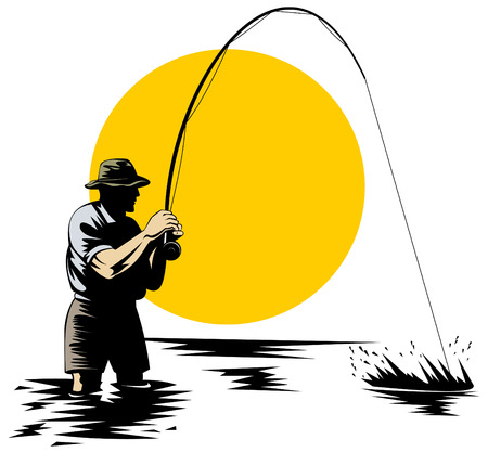 p�cheur: Fly p�cheur Illustration