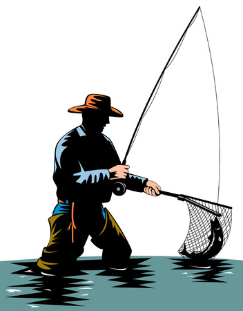 рыбаки: Нахлыст Иллюстрация