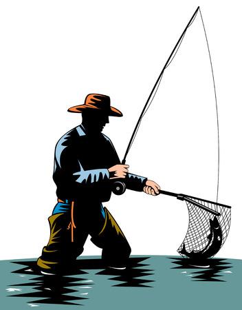 釣りをフライします。