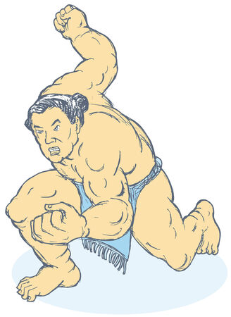 wrestle: Sumo wrestler Illustration