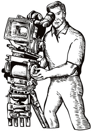 Camera man Vector