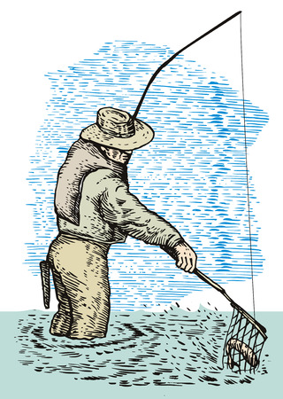 angler: Fly fishing