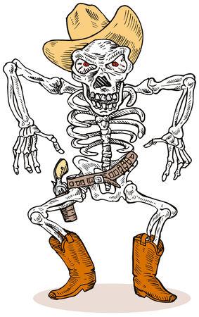 Cowboy Skeleton Vector