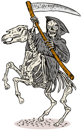 charro: Grim Reaper a caballo