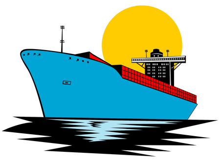 freighter: Container ship Illustration