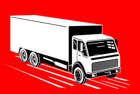 cartage: Delivery truck