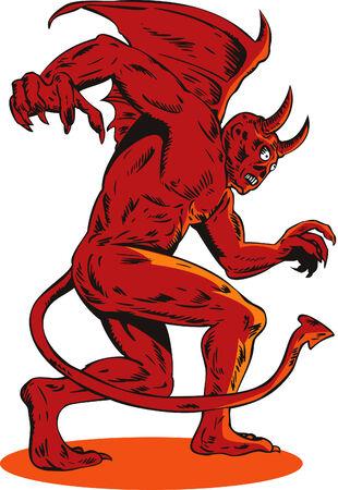 Demon creature Stock Vector - 3888006