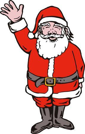 Santa Claus waving photo