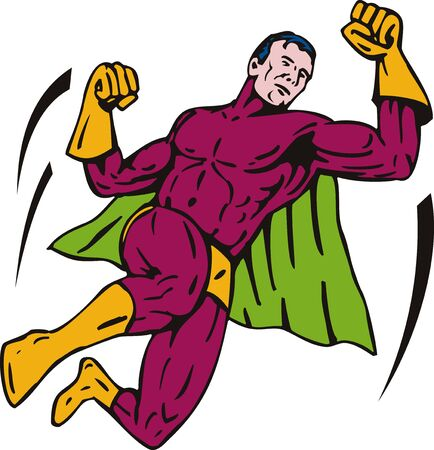fullbody: Superhero flying