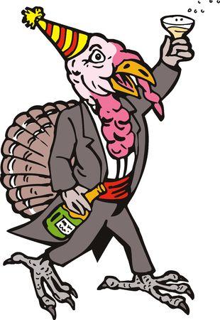 Wild turkey toasting