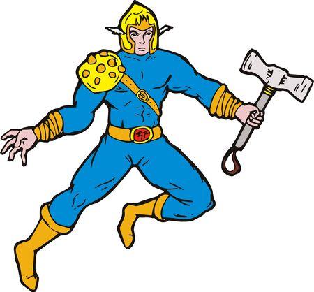 Superhero viking hammer photo