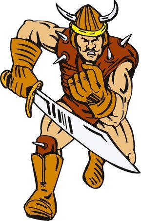 attacking: Viking superh�roe