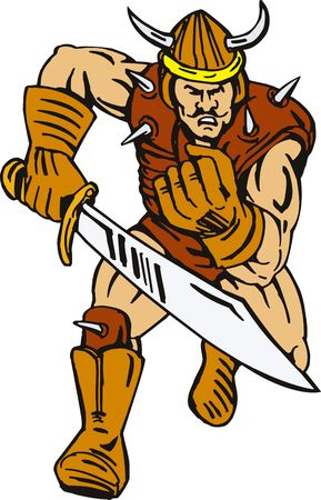 attacking: Viking superhero