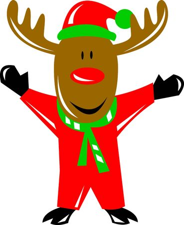 Rudolph the Red Nosed reindeer Stock Photo - 3961984