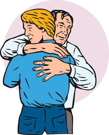 forgive: Father and son embrace