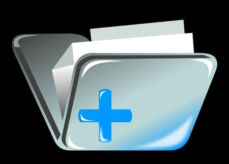 attache: Folder icon with plus sign