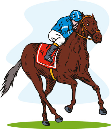 thoroughbred: Horse racing Illustration