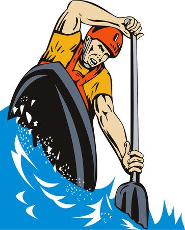 Kayak paddler Stock Vector - 3966127