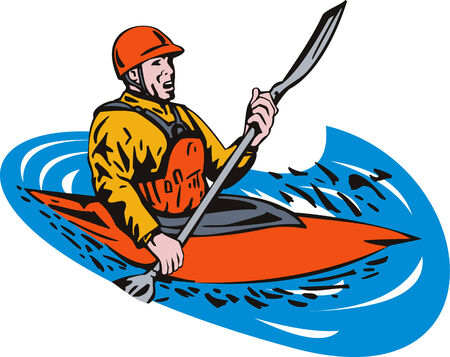paddler: Kayak paddler Illustration