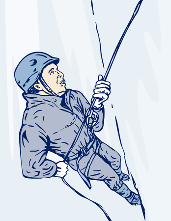 ice climbing: Mountain climber