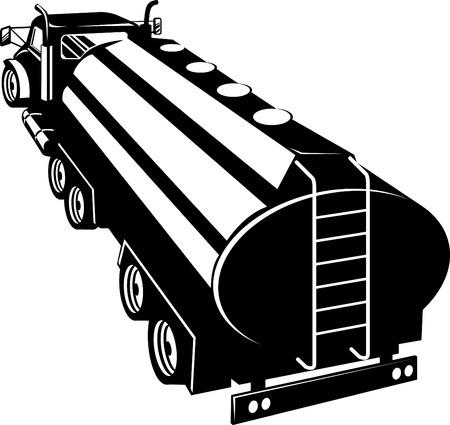 barco petrolero: Cisterna de combustible Vectores