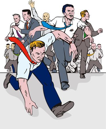 miedoso: Gente corriendo hacia la c�mara