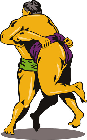 Sumo wrestlers Vector