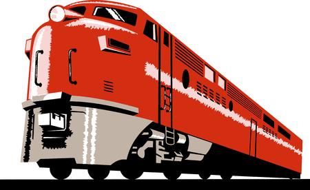 Diesel Train Vector