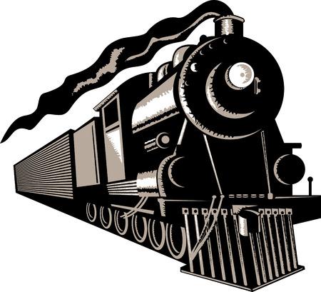 Steam train Stock Vector - 3982171