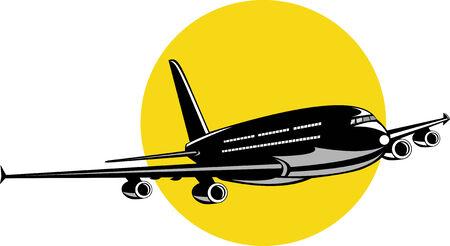 off on: Jet plane