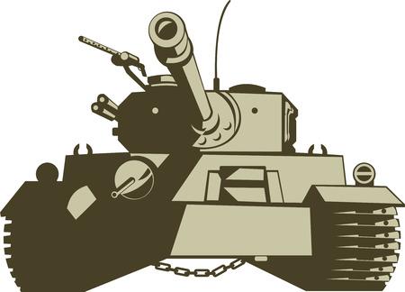 Battle tank Stock Vector - 3982184