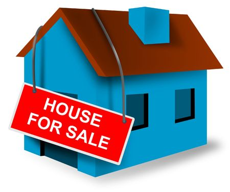 foreclosed: House with for sale sign