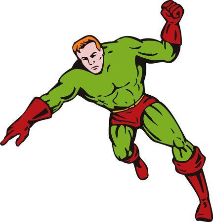 Superhero punching Stock Photo - 4132609